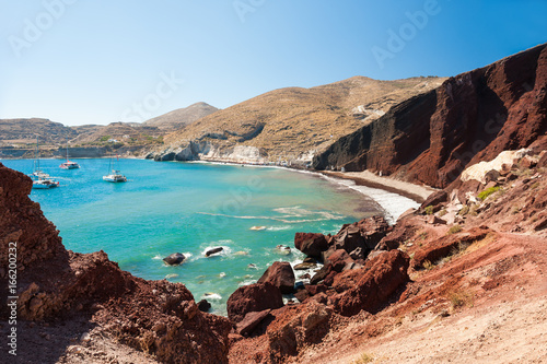 Red beach on Santorini island, Greece