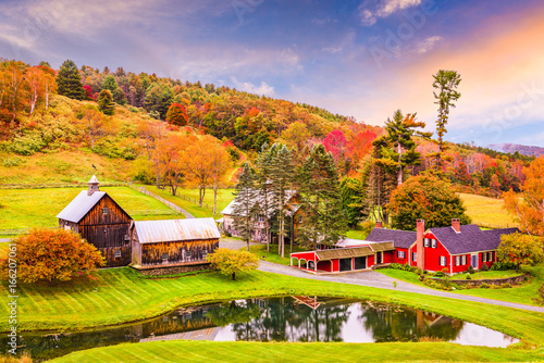 Foto op Canvas Herfst Rural Autumn Vermont