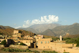 Berber Mountain Village view from TinMal Mosque, High Atlas Mountains, Southern Morocco