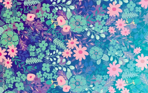 Beautiful abstract floral background - 166219455