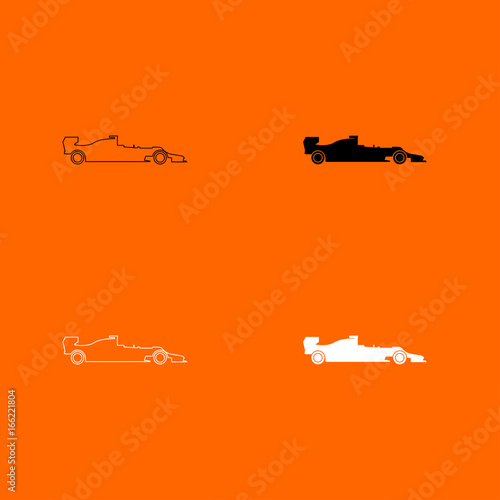 Silhouette of a racing car icon .