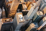 Aerial view of Midtown Manhattan, NY with the Chrysler building - 166224416