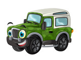 cartoon funny looking off road truck / vehicle  - 166226407