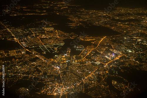 Foto op Canvas Kuala Lumpur Aerial photo of Kuala Lumpur from a plane
