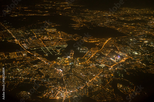 Aerial photo of Kuala Lumpur from a plane Poster