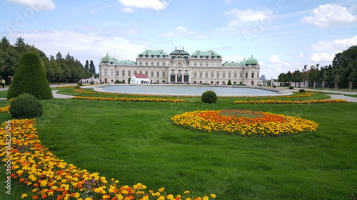 Grass field in front of Belvedere palace