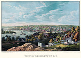 Georgetown (Washington D.C.) old view of. Created and published by E. Sachse, Baltimore, 1855 - 166227694
