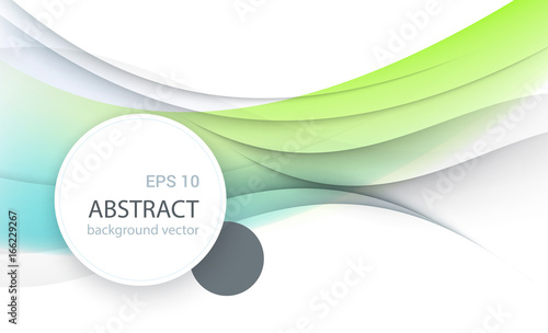 Wall mural Vector Abstract smooth color wave background.Vector illustration eps 10