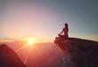 Quadro Woman practices yoga