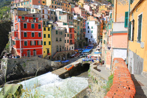 Colourful Riomaggiore in Cinque Terre National Park, Liguria, Italy