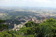 The wall of the Moorish fortress against the background of the city of Sintra - 166251007