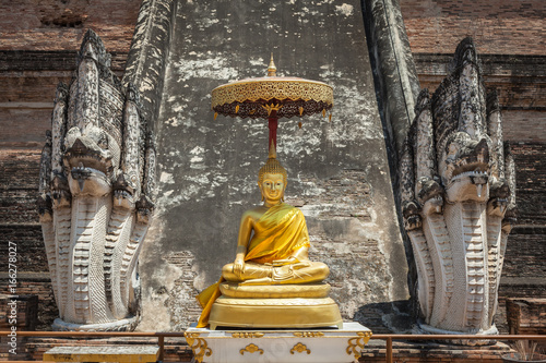 Buddha Between Two Statues - Chedi Luang