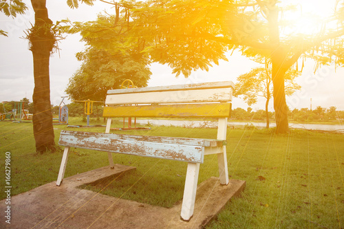 vintage bench in the park