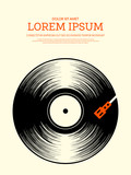Music retro vintage poster background - 166280878