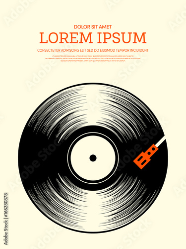 Aluminium Vintage Poster Music retro vintage poster background