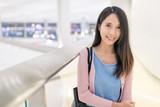 Woman in Hong Kong airport