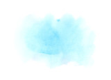 Soft blue watercolor stain on a white background - 166282474