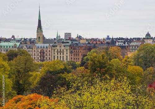 Staande foto Stockholm Autumn in Stockholm, Sweden