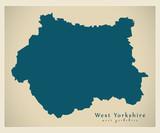 Modern Map - West Yorkshire metropolitan county England UK - 166310297