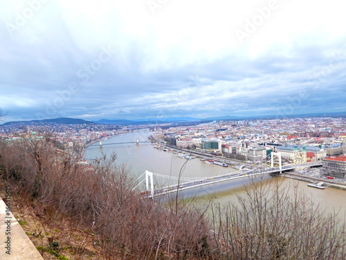 View over Budapest and Danube