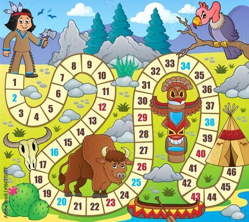 Tuinposter Voor kinderen Board game topic image 1