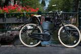 Rower i kwiaty, Amsterdam, Holandia