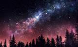 Fototapety Stary clear night sky. Mixed media