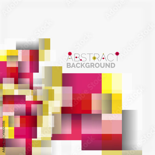 Abstract blocks template design background, simple geometric shapes on white, straight lines and rectangles © antishock