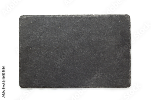 black slate signboard isolated on white - 166335886