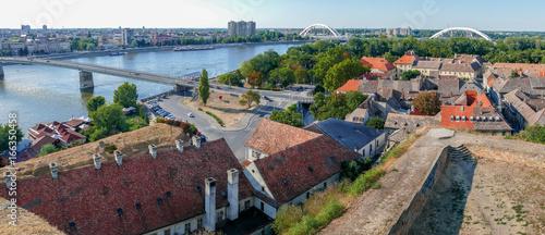 Fototapeta Panoramic cityscape in Novi Sad, Serbia