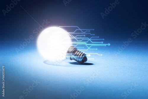 lampadina, luce, concetto, elettricità Poster