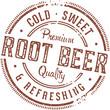 Vintage Root Beer Stamp Sign