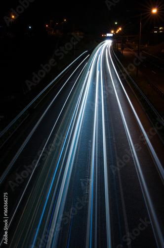Foto op Aluminium Nacht snelweg s