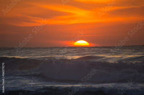 Poster Canarische Eilanden Sunset over Atlantic ocean