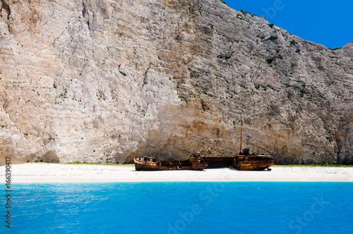 Shipwreck at Naviago Bay, Zante, Zakynthos