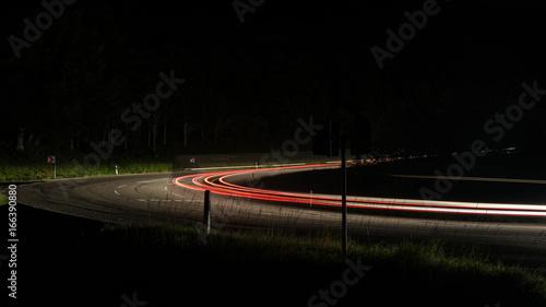 Foto op Aluminium Nacht snelweg light trails car