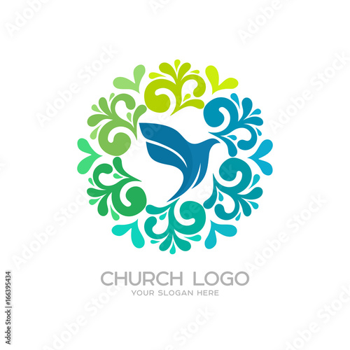 Church Logo Christian Symbols Dove The Symbol Of The Holy Spirit