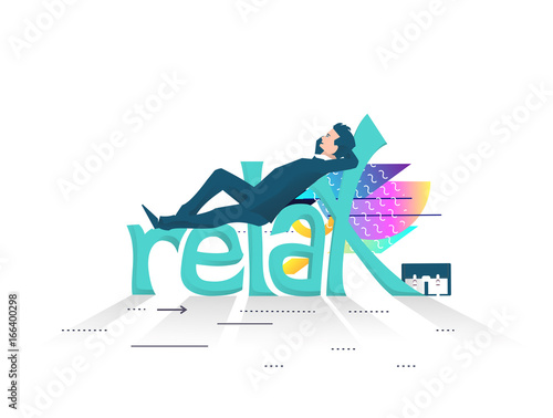 Business concept of relaxing and rest.