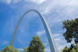 Gateway arch and blue sky.
