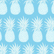 Cotton fabric Vector Vintage pineapple seamless pattern