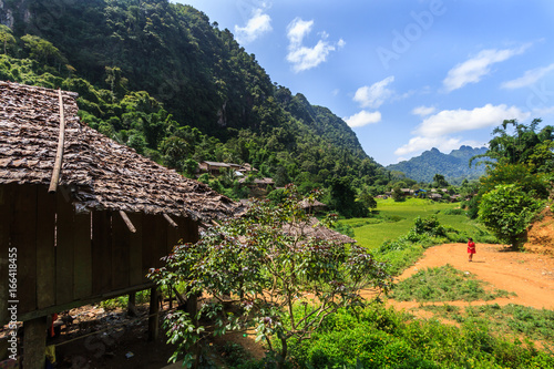 Karen village Beautiful nature Sufficient lifestyle Tha Song Yang District, Tak Province, Thailand
