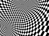 Abstract illusion. Black and white