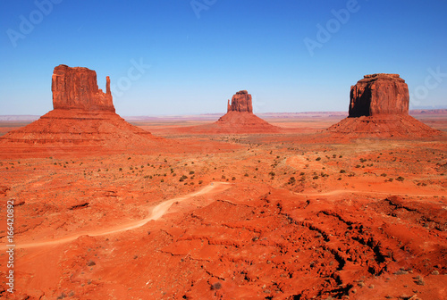Foto op Canvas Baksteen Monument Valley on the border of Utah and Arizona