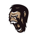 Strong Gorilla Vector Logo Illustration - 166429626