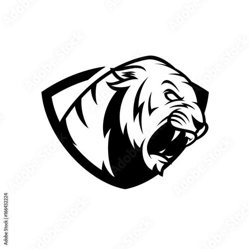 Ilustracja wektorowa Logo Tygrys