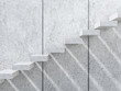 Concrete stairs with shadows on the wall. 3d