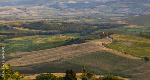 Landscape of Tuscany in the morning light