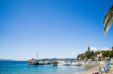 A view of the seafront of the town of Lopud,  Lopud island, Dalmatian coast, Southern Croatia.  One of the Elaphiti islands. - 166452690