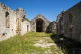 The ruined Church of St John, Lopud, Dalmatian coast, Southern Croatia.  One of the Elaphiti islands. - 166452877