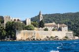The Franciscan Monastery on Lopud, Dalmatian coast, Southern Croatia.  One of the Elaphiti islands. - 166453067